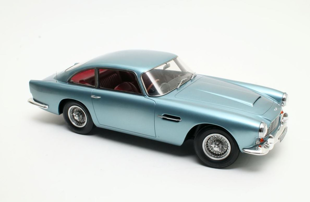 Aston Martin DB4 1958 Blauw Metallic - 1:12