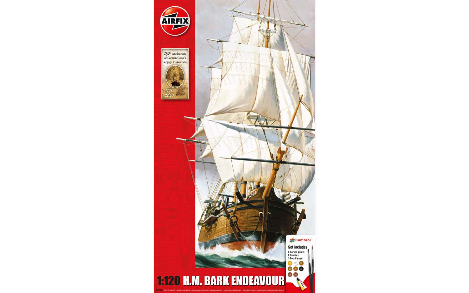Endeavour Bark and Captain Cook 250th Anniversary - 1:120