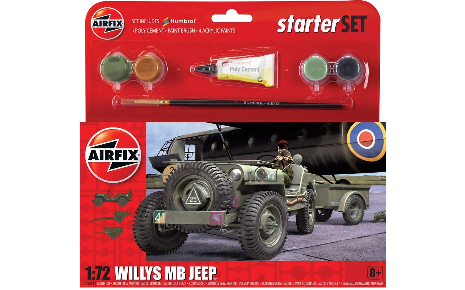 Starter Set Willy's MB Jeep - 1:32