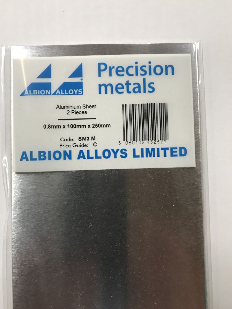 ALUMIN. PLAAT0,8 MM     2