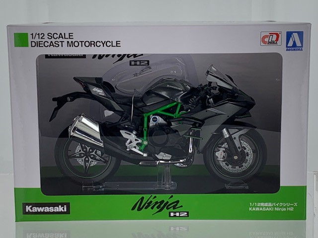 Kawasaki H2 2015 Black/Green - 1:12