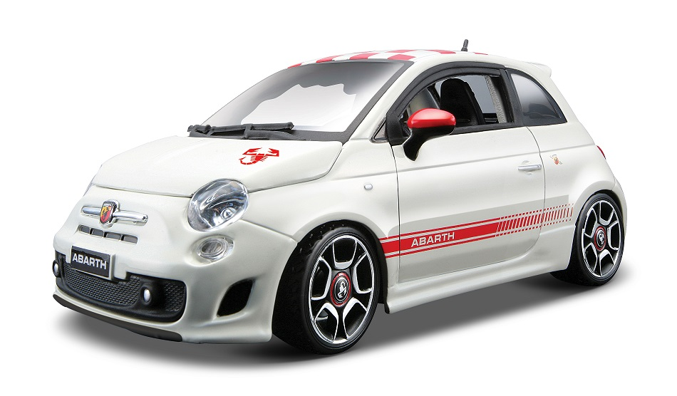 Fiat 500 Abarth Wit/Rood Kit