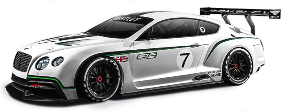 Bentley Continental GT3 Wit/Zwart