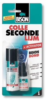 Secondelijm met Activator card 50 g + 10 ml