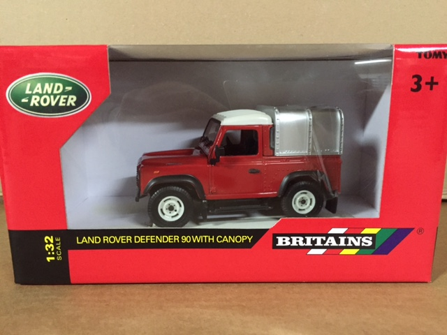 Land Rover Defender 90 + Canopy Red