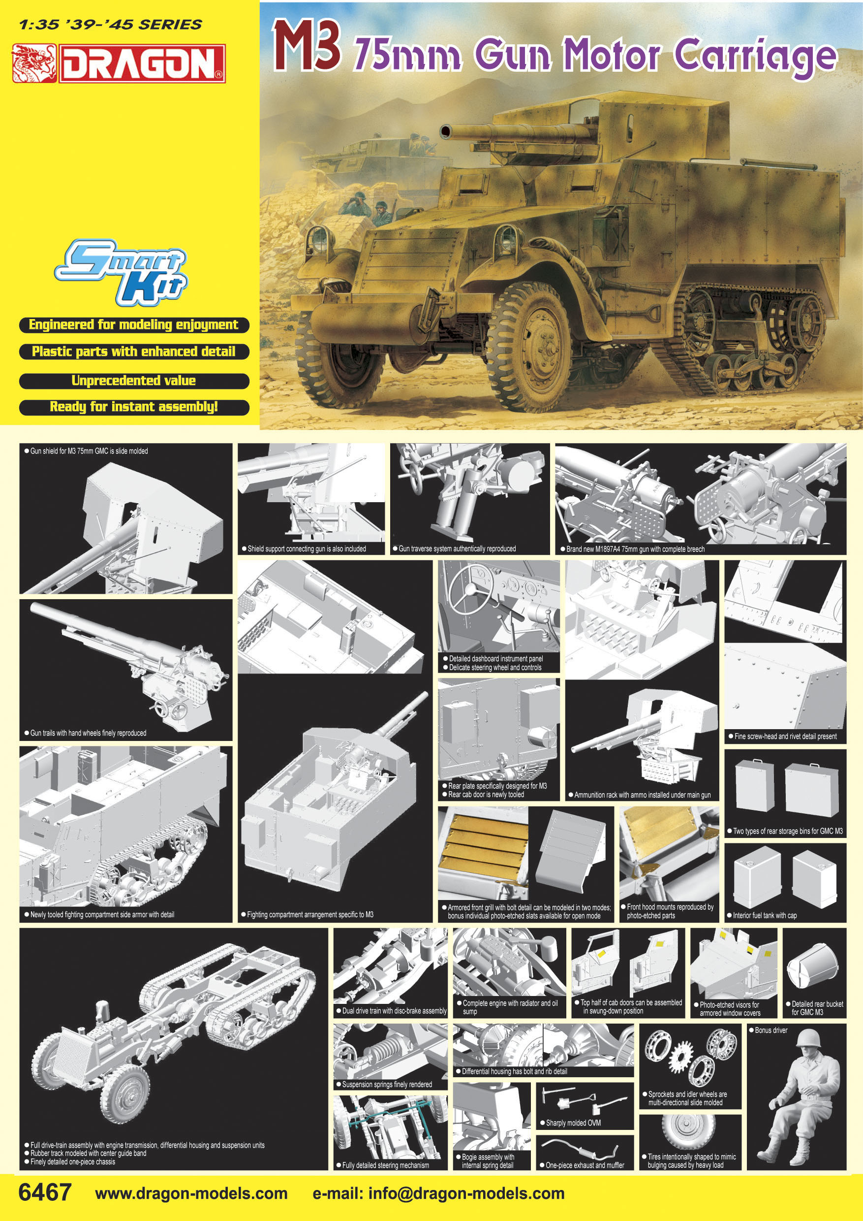 M3 75mm Gun Motor Carriage - 1:35
