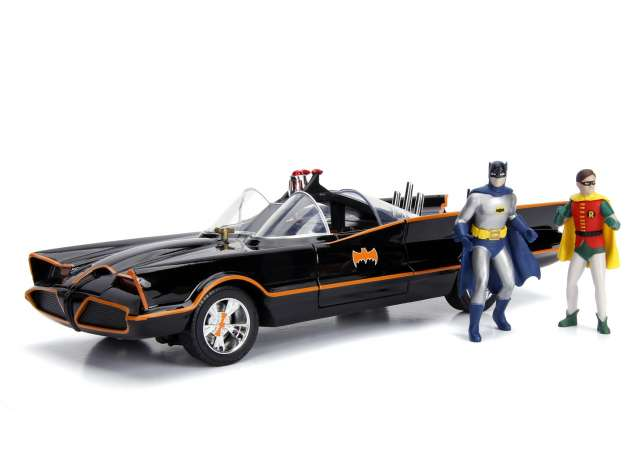 Batmobile Classic TV Series with Batman and Robin 1966 - Batman