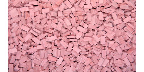 bricks - light brick-red 9000 pcs