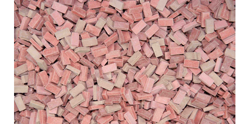 bricks -   mix brick-red 9000 pcs