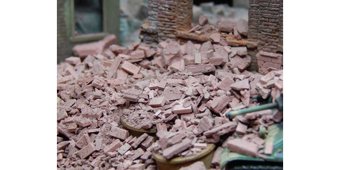 Rubble and debris - brick-red 50 g