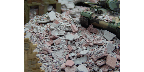 Rubble and debris - brick-grey/red 50 g
