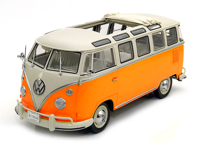 Volkswagen T1 Samba 1962 Orange/White