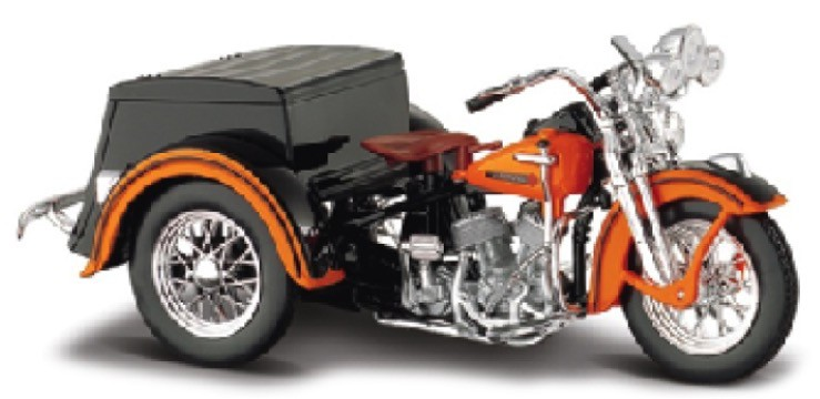Harley-Davidson Servi-Car 1947 with Sidecar Orange/Black