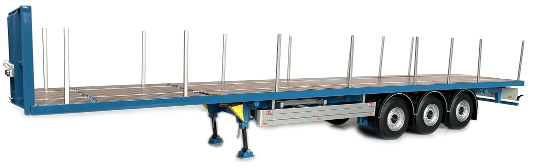Pacton Flatbed trailer Blue