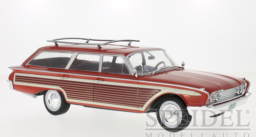 Ford Country Squire 1960 Rood met Hout
