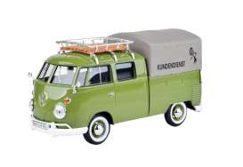 Volkswagen T1 Pick Up with Roof Rack VW-Kundendienst Green (Cover)