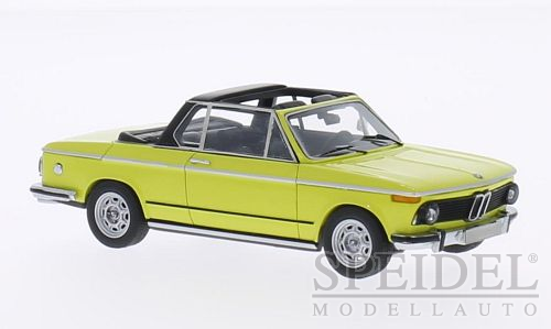 BMW 2002 (E10) Baur Cabriolet Yellow