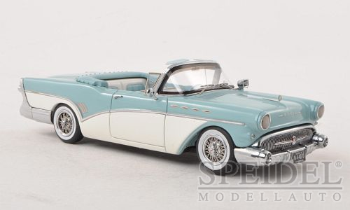 Buick Roadmaster Convertible 1957 Light Blue/White