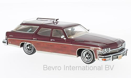 Buick Le Sabre Estate Wagon 1974 Donkerrood/Hout Metallic
