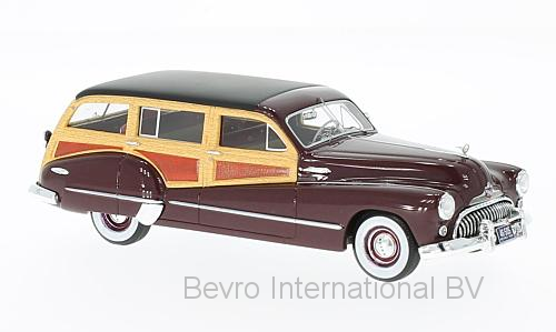 Buick Roadmaster 79 Estate Wagon 1947 Dark Red/Wood