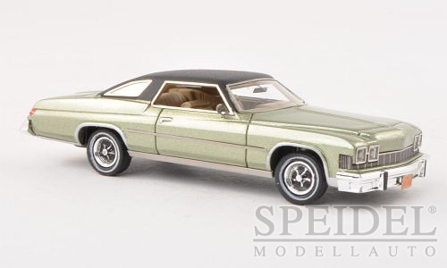 Buick Le Sabre Hardtop Coupe 1974 Light Green/Black Metallic - 1:87