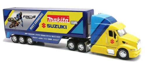 Ricky Carmichael Peterbilt New Ray 1/32 Suzuki Makita Racing Truck