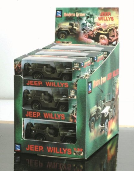 1:32 Jeep Willys Pull Back