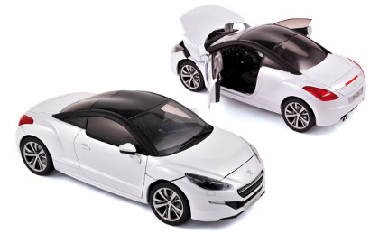 Peugeot RCZ 2013 White with Black roof