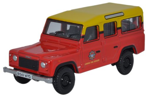 Land Rover Defender London Fire Brigade Rood/Geel