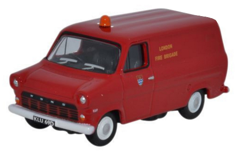 Ford Transit MK1 London Fire Brigade Rood - 1:76