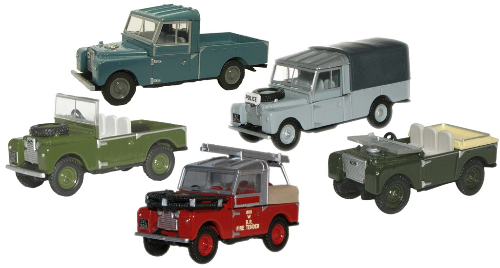 Land Rover 5 Car Set - 1:76