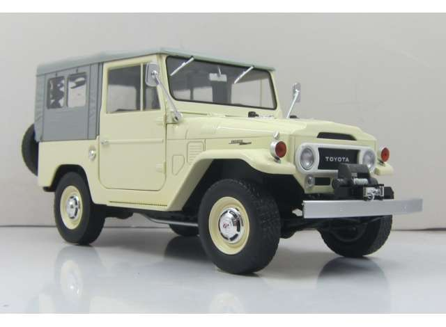 Toyota Land Cruiser fj40 1967 Beige met Grijze Soft top