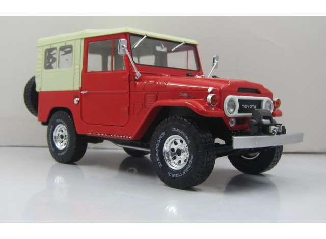 Toyota Land Cruiser fj40 1967 Rood met Beige Soft top