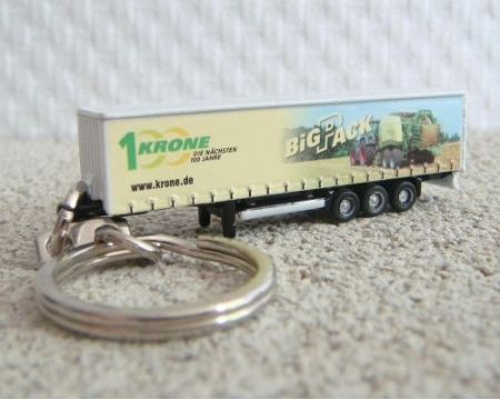Krone Trailer with Big Pack Decoration Keyring