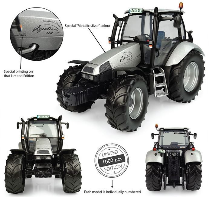 Deutz-Fahr Agrotron 120 MK3 No.555 Silver - Limited Edition