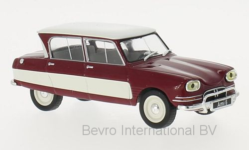 Citroen Ami 6 1961 Donkerrood/Wit